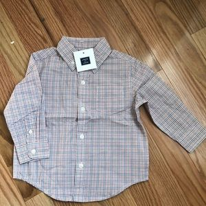Janie and Jack Button Down Shirt. Size 12-18 mon